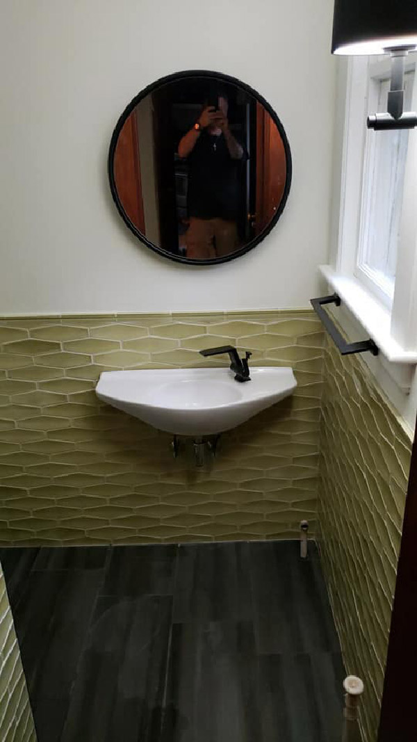 Wall-Mounted Bathroom Sink